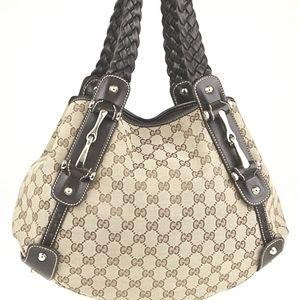 Gucci Pelham GG Canvas braided Shoulder Bag